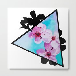 Apple Blossoms Triangle Metal Print
