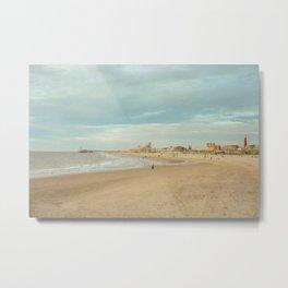 Golden Hour Beach Vibes - Artistic Film Wall Art of The Hague Metal Print