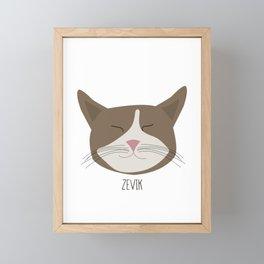 Family Cat Portraits, Zevik Framed Mini Art Print