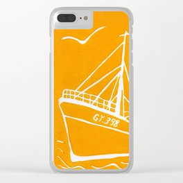 Ross Tiger in Yellow Clear iPhone Case