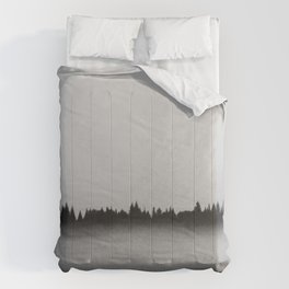 foggy Siberian forest Comforters