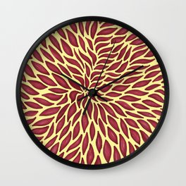 Red flow Wall Clock