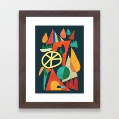 Summer Fun House Framed Art Print