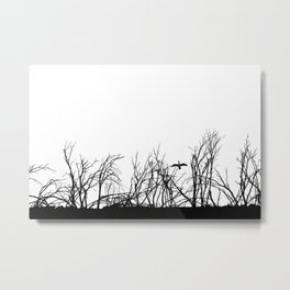 The big bird in the dry trees Metal Print