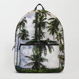 Palm Trees Kauai Hawaii Printable Wall Art | Tropical Beach Nature Ocean Coastal Travel Photography Print Backpack