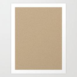 Tan Brown Saturated Pixel Dust Art Print