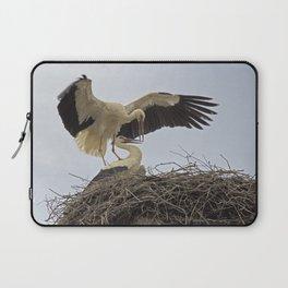 Storks in a Nest Laptop Sleeve