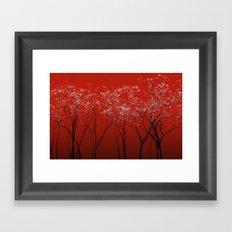 Trees redwine Framed Art Print