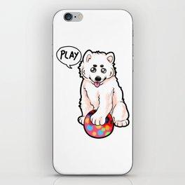 Baby Samojede Dog Doggie Puppy Dogs Owner Present iPhone Skin