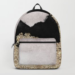 Golden sparkle black ink Backpack