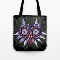 majoras mask Tote Bags featuring Triangle Majora's Mask by NeleVdM