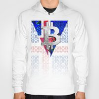 iceland Hoodies featuring bitcoin Iceland by seb mcnulty
