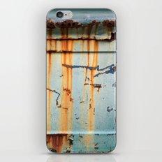 Rust Streaks on Aqua iPhone & iPod Skin