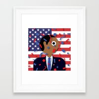 obama Framed Art Prints featuring Obama by Stephen Cheetham