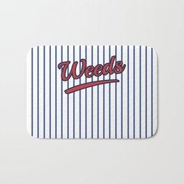 Weeds Typographic Design Bath Mat