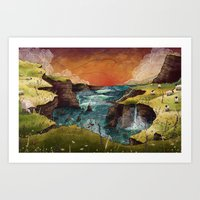 ruben ireland Art Prints featuring Ireland by Taylor Rose