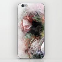 the winter soldier iPhone & iPod Skins featuring Winter Soldier by NKlein Design