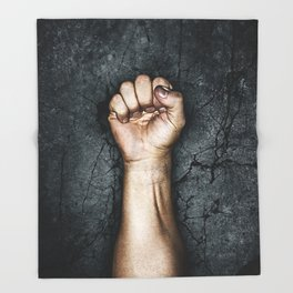 Protest fist Throw Blanket