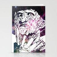 freddy krueger Stationery Cards featuring Galaxy Robert Englund Freddy Krueger by Cookie Cutter Cat Lady