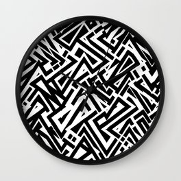 Crystallized Black and White lineal Insomnia Wall Clock