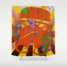 T-Psychedelic Shower Curtain