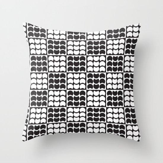 Hob Nob Black White Quarters Throw Pillow