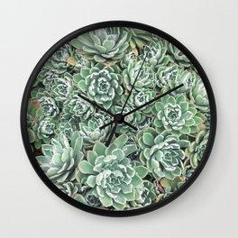 Succulent Bed Wall Clock