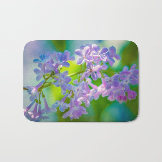 Purple Lilac Flowers Bath Mat