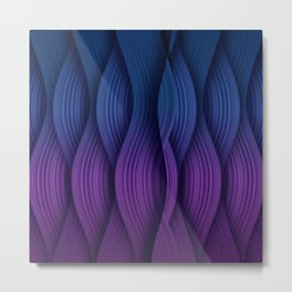 Purple and dark blue background Metal Print