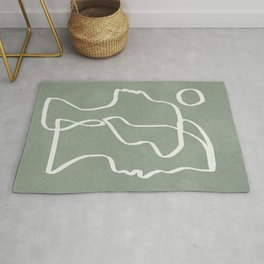 Abstract Faces Rug