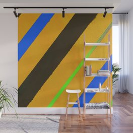 Blue and orange lines Wall Mural