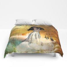 Beautiful amarican indian with dreamcatcher Comforters