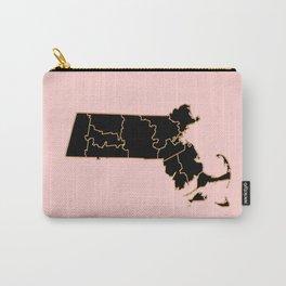 Massachusetts map Carry-All Pouch