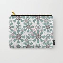 Abstract floral, geometric pattern. Carry-All Pouch