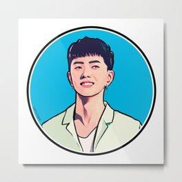 iKON Rainbow - Donghyuk Metal Print