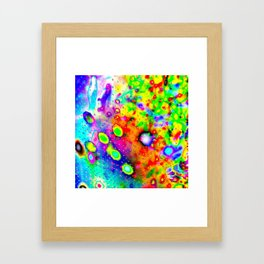 Lighting Experiment 47 - Psychedelic Bubbles Framed Art Print