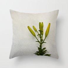 Botanical Lily No. 7733 Throw Pillow