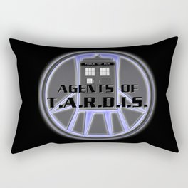 Agents of TARDIS Doctor Who Agents of Shield Mash Up Rectangular Pillow