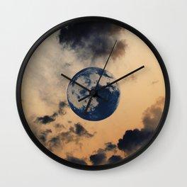 Moon Clouds Wall Clock