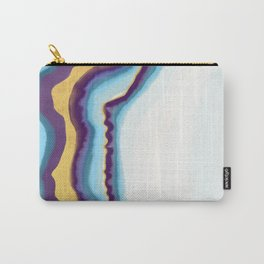 Blue and gold agate Carry-All Pouch