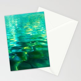 Blue Green Water Stationery Cards