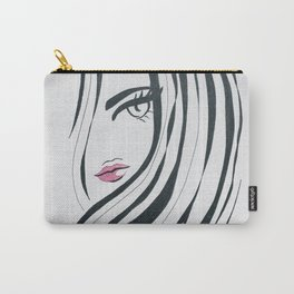 Girl Power Black and White Carry-All Pouch