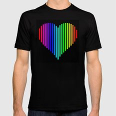 Techno Love Mens Fitted Tee X-LARGE Black