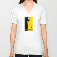 scarface V-neck T-shirts featuring The One Who Knocks by WinterArtwork