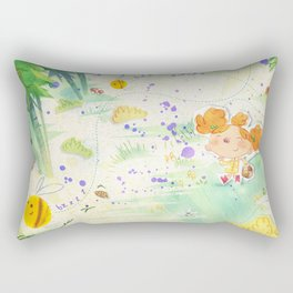 Mushroom hunt_panorama Rectangular Pillow