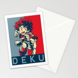 my hero academia deku Stationery Cards
