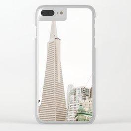 The Transamerica Pyramid San Francisco Clear iPhone Case