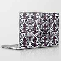 victorian Laptop & iPad Skins featuring Victorian Squid by Cryptovolans