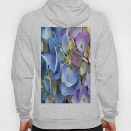 Blue and Pink Hydrangea Flowers  Hoody
