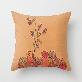 Russian Fruits Throw Pillow